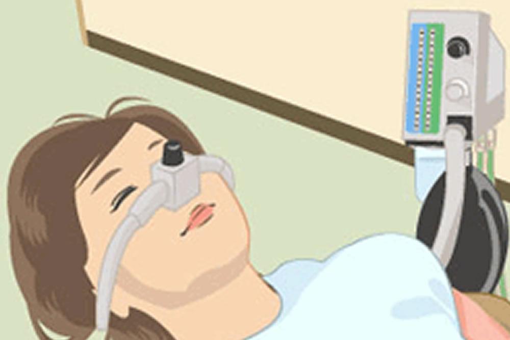 酸素吸入器の配備